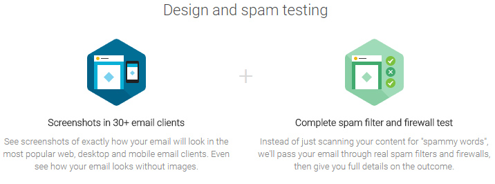 design and spam testing