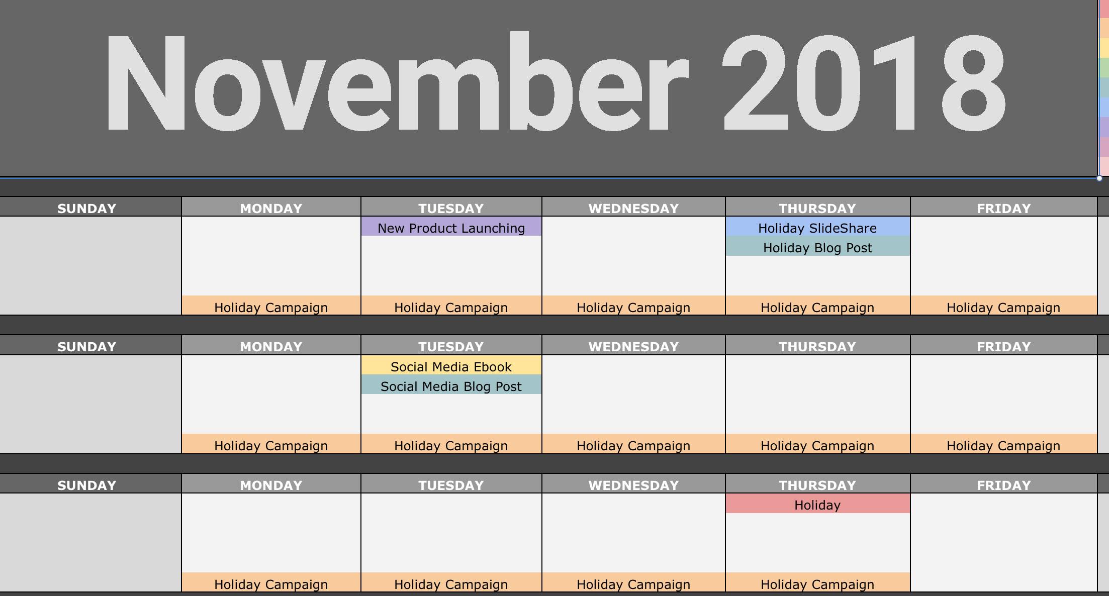 November Content Plan
