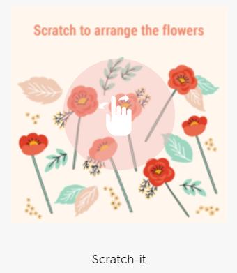 Scratch reveal