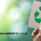 TouchBasePro How to repurpose content for email